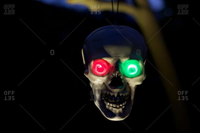 Neon Halloween skull