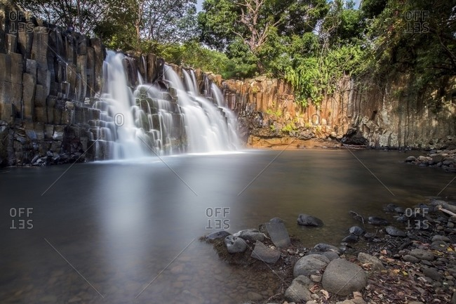 The Rochester falls is a waterfall situated in the Savanna district of Mauritius