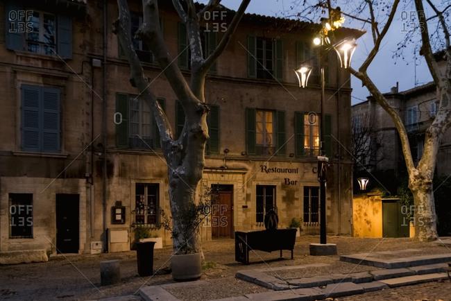 Place du Palais in Avignon France