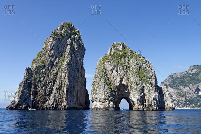 Italy, Campania, Gulf of Naples, Capri, Faraglioni