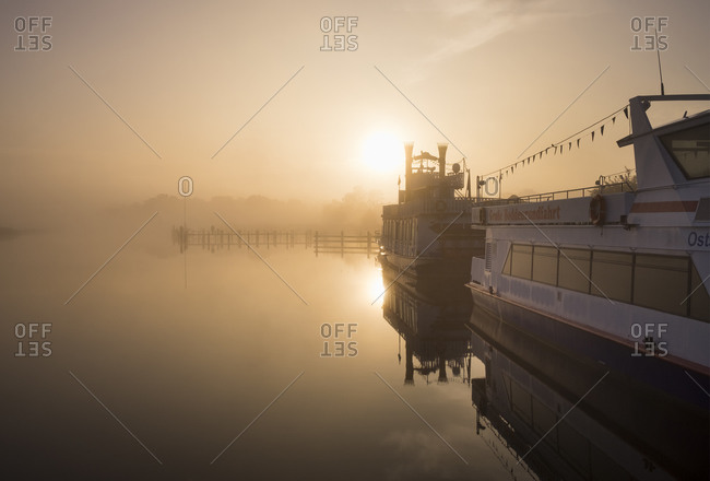 Fischland, Germany - September 23, 2015: Harbour in the morning