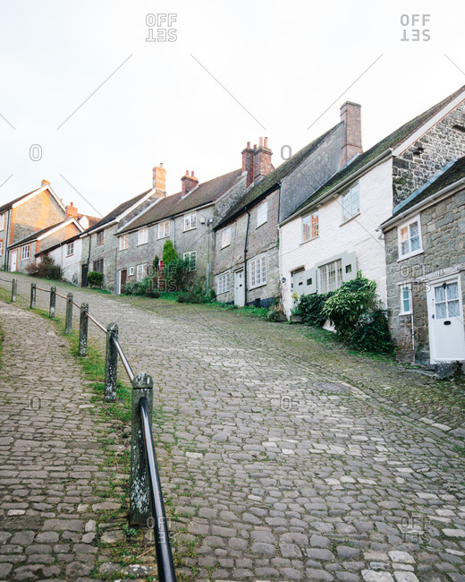 A row of English cottages