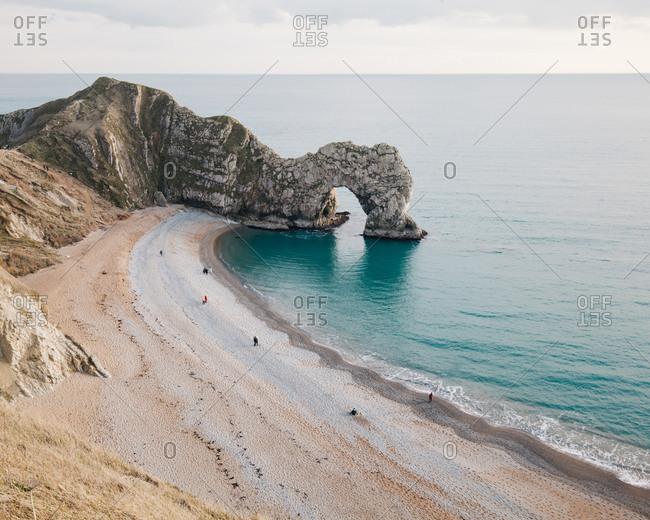 Shoreline at Durdle Door, Lulworth Cove, Dorset, England