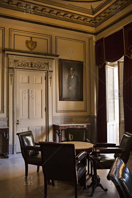 Havana, Cuba - January 25, 2016: Room in the Museum of the Revolution