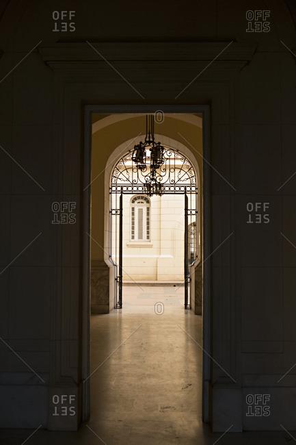Doorway in a museum
