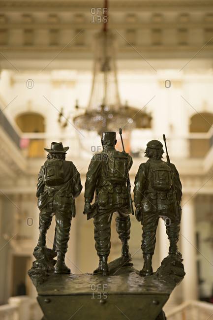 Havana, Cuba - January 25, 2016: Figurines in the Museum of the Revolution