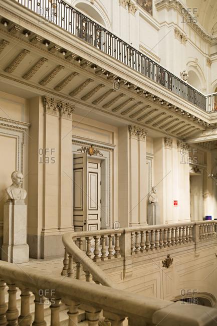 Havana, Cuba - January 25, 2016: Multi-level interior of the Museum of the Revolution