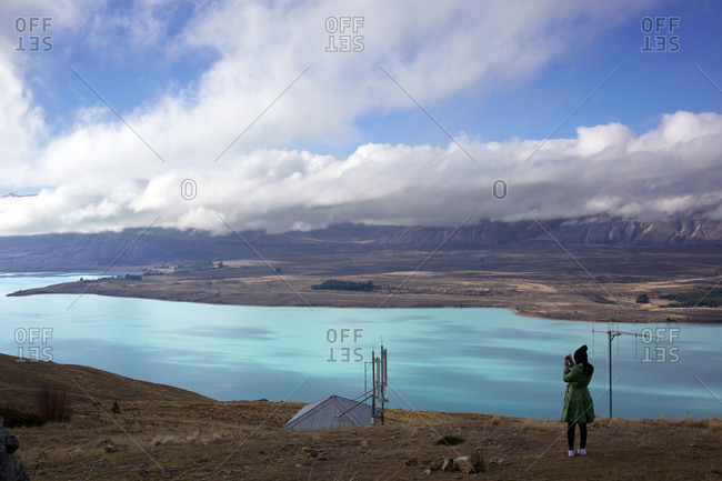 Mount with lake view, New Zealand