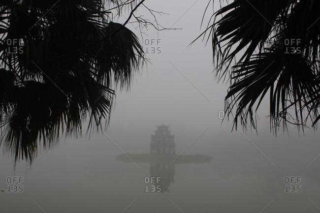 Thap Rue Pagoda in mist, Vietnam