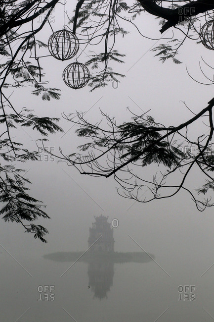 Pagoda in the mist, Vietnam