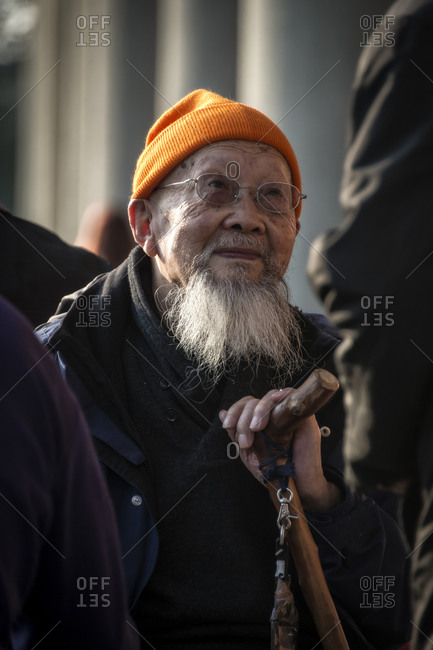 Taiwan - January 4, 2015: Photo of an elderly man, Taiwan