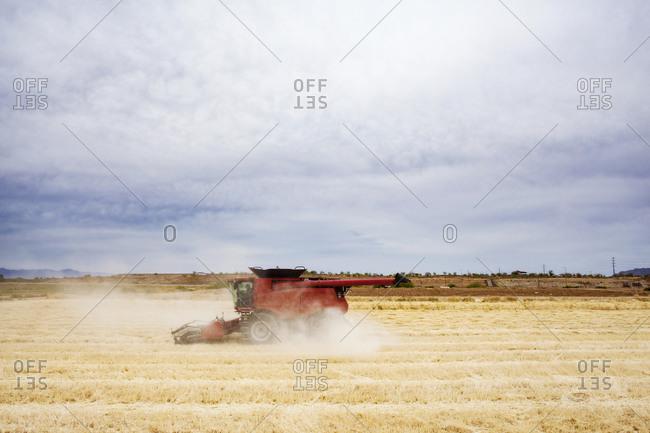 Farm machine in field - Offset