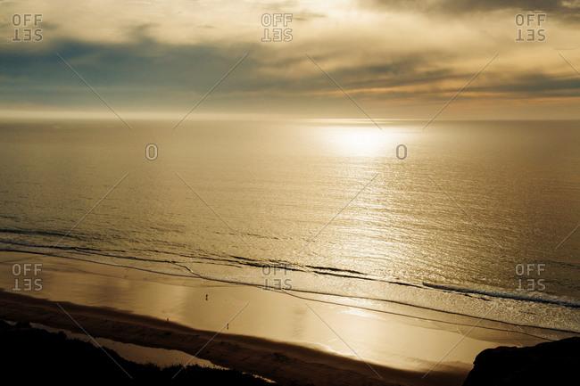 Sunset over ocean, San Diego, California, USA