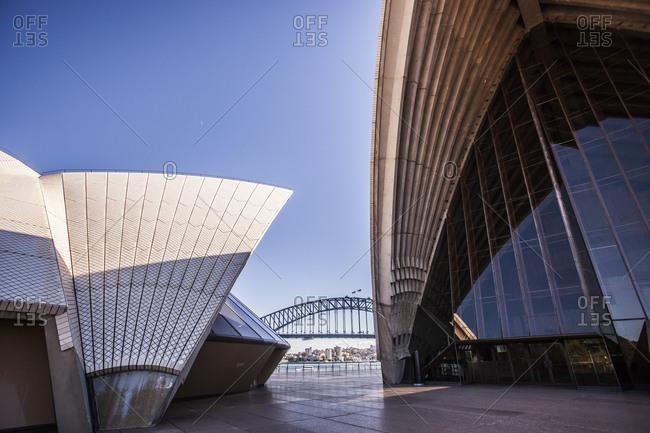 Sydney, Australia - May 13, 2015: Sydney Opera House and Harbour Bridge