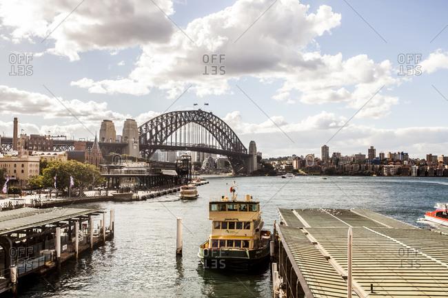 Sydney, Australia - May 13, 2015: Ferry in harbor