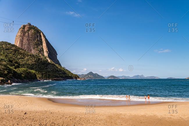 Couples  enjoying the beach