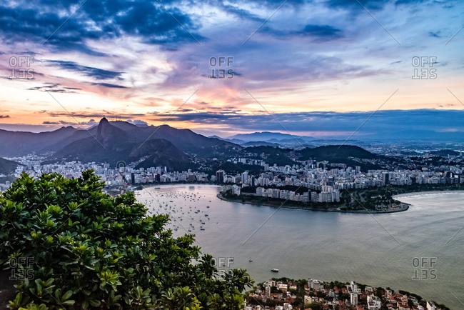 Evening sky over Rio de Janeiro