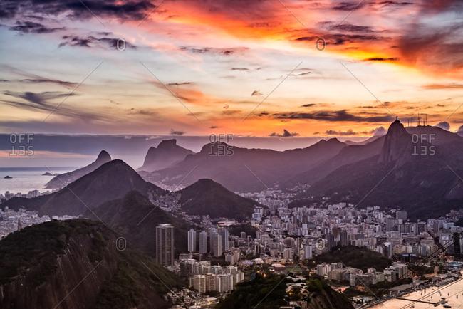 Sunset over Rio de Janeiro