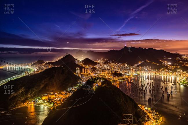 Rio de Janeiro at twilight