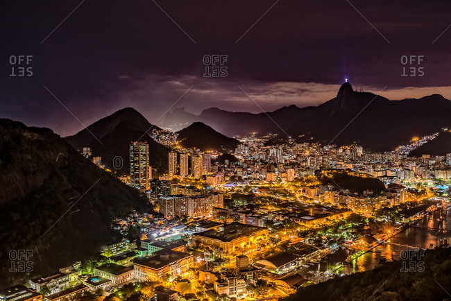 Night lights in Rio de Janeiro