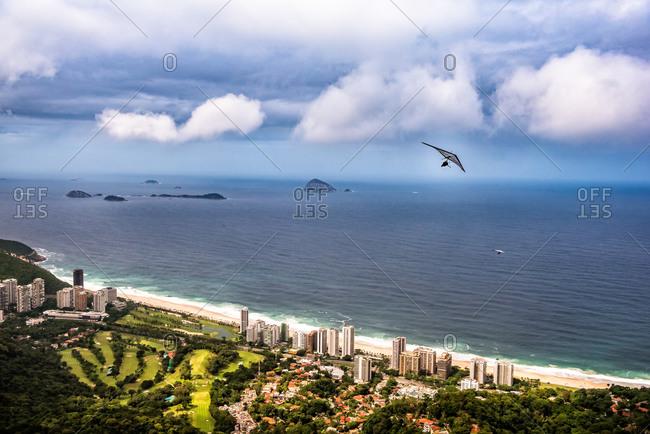 Hang gliding above Rio de Janeiro