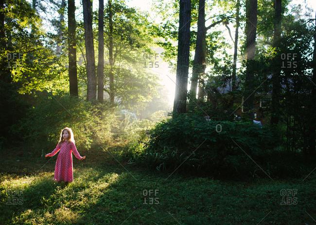 Little girl basking in the sun