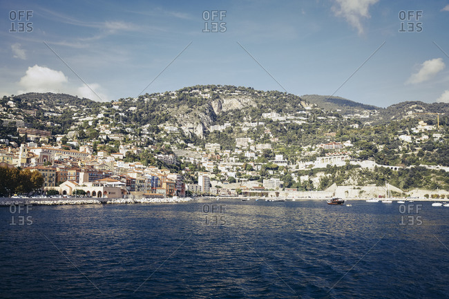 Hillside buildings and the waterfront at Nice, France