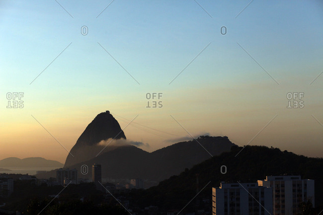 Sunrise over Sugarloaf Mountain, Rio de Janeiro, Brazil