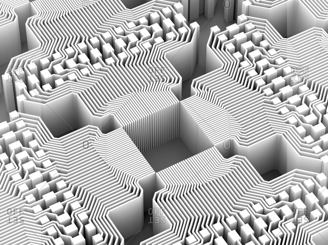 Rendering of an electronic circuitry of a quantum computer