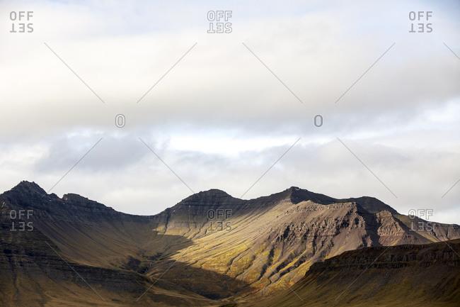 Barren mountain peaks, Iceland