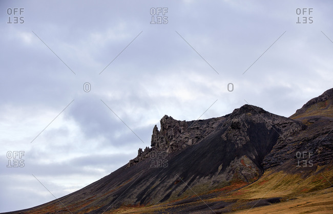 Cliff slopes in Iceland