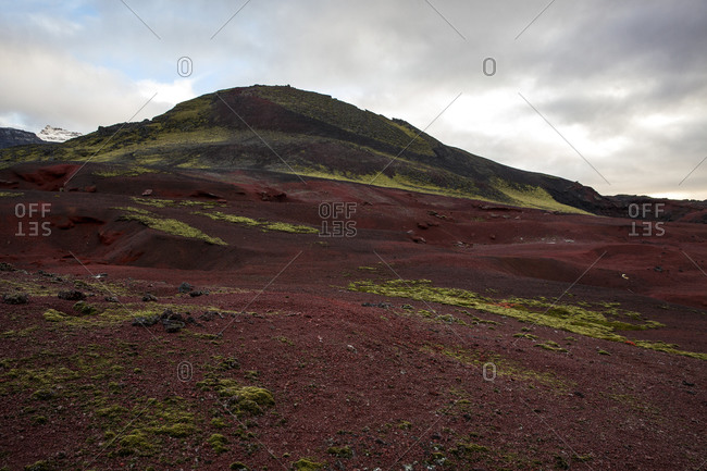 Barren earth on Icelandic peak