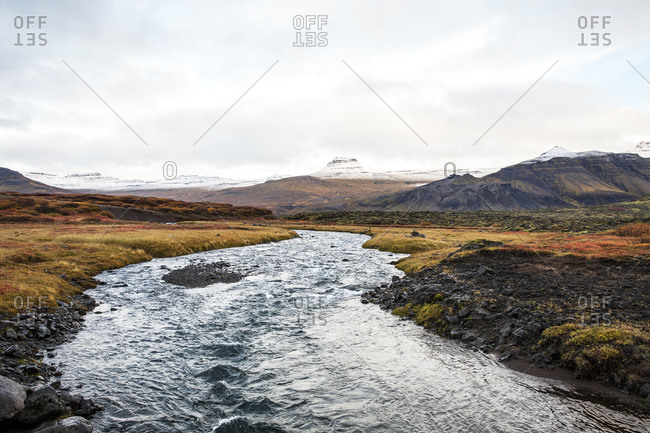 River flowing in Iceland