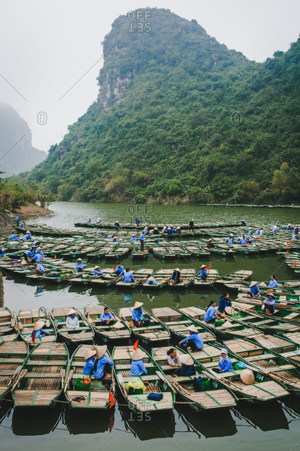 Tour boats on a river