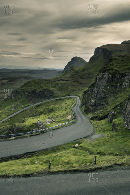 Highway in rural landscape, Scotland