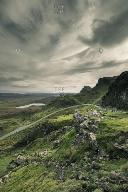 Road in rural hills, Scotland