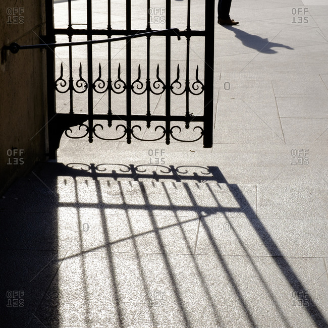 - April 5, 1904: Shadow of gate and a person