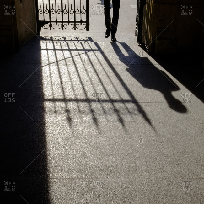 - April 5, 1904: Shadow of gate and person