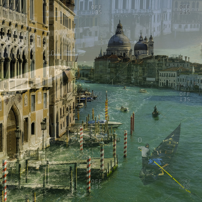 - April 5, 1904: Reflection over Venice canal scene