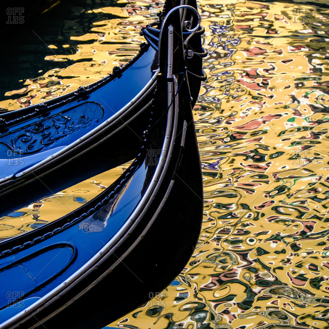 Two gondolas in Venice, Italy