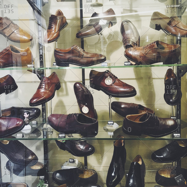 Variety of men's shoes, Italy