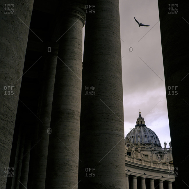 St. Peter's basilica and columns