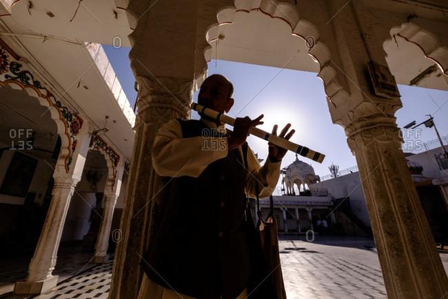 - April 5, 1904: Musician playing in Jodhpur, India