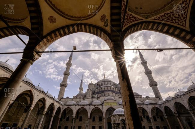 Low angle of Hagia Sophia, Istanbul