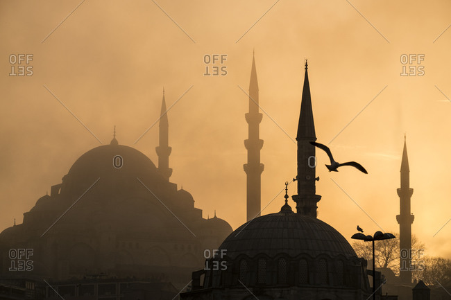 Hagia Sofia silhouetted, Istanbul, Turkey