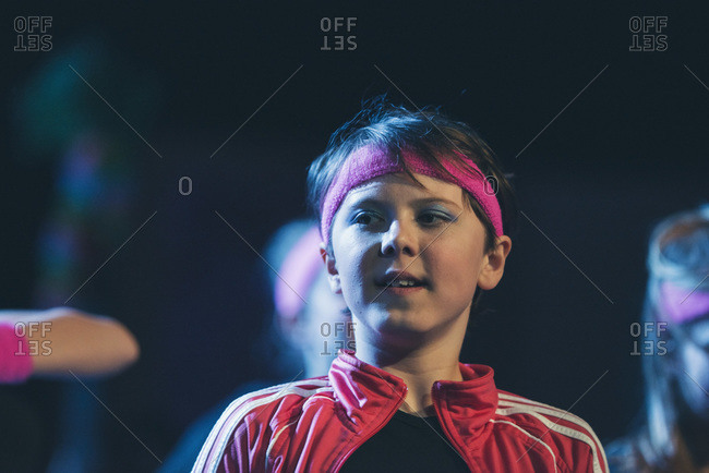 Boy on stage with headband