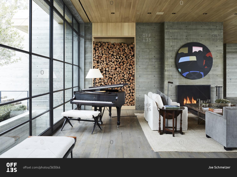 Malibu CA February 10 2016 Modern Living Room With