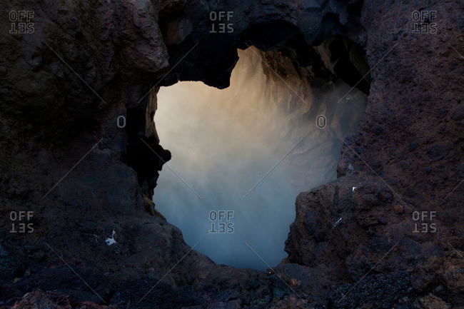 Bubbling grotto of Los Hervideros, Canary islands, Lanzarote, Spain