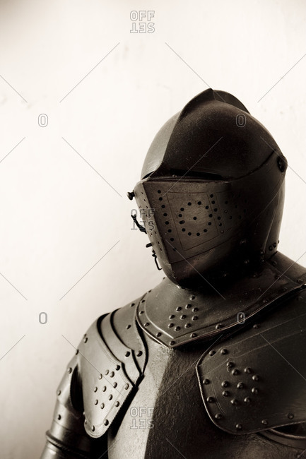 Close-up of a knight's armour