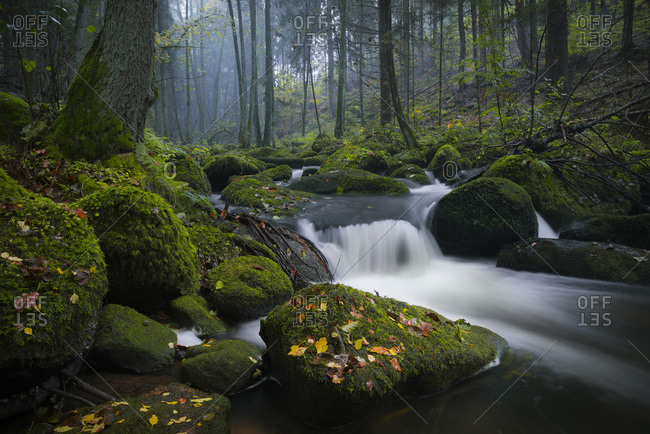 Course of a river in Bavaria, Germany